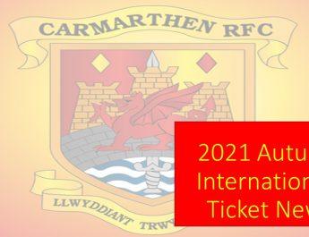 2021 Autumn Internationals – Important Ticket Information